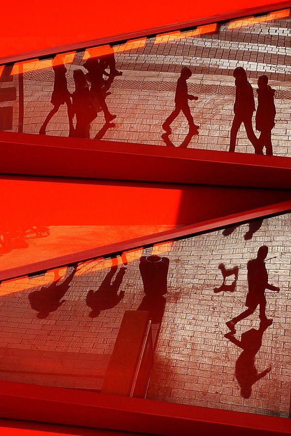 La ville en rouge/  Catherine Lefort